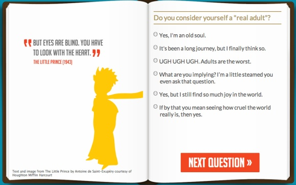 'What children's book character are you?' Quiz