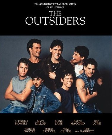 Cast of 'The Outsiders' (1983, Dir. Francis Ford Coppola)
