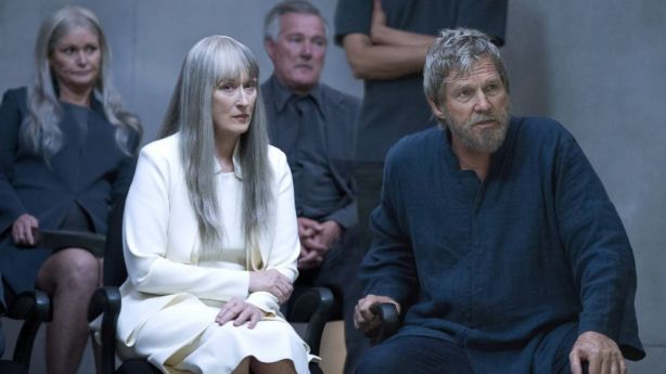 Meryl Streep (Chief Elder) and Jeff Bridges (The Giver)